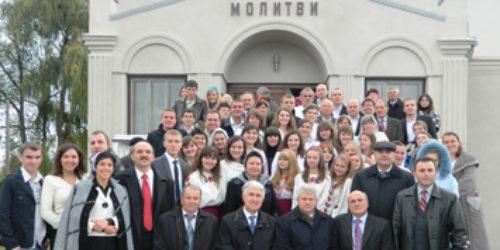 Святкування 85 річчя церкви ХВЄ в місті Острозі