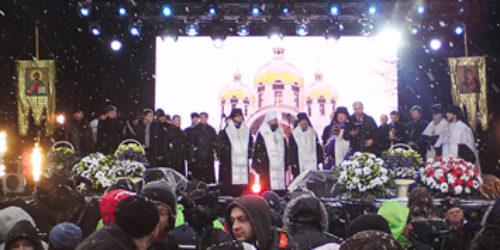Старший єпископ ЦХВЄУ Михайло Паночко звернувся до українського народу зі сцени Софіївської площі