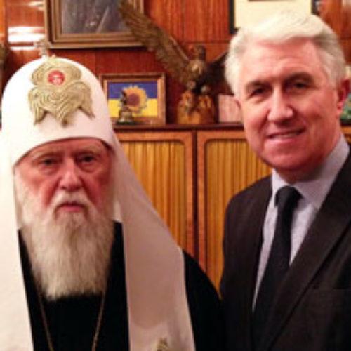Михайло Паночко привітав Патріарха Філарета із 85-річчям