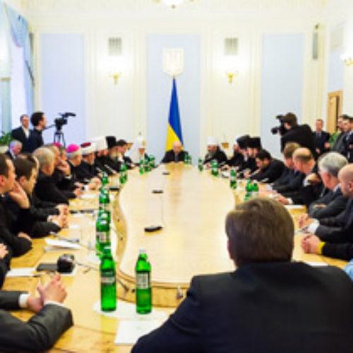 Голова ВР Олександр Турчинов запропонував проводити  регулярні зустрічі  з главами церков