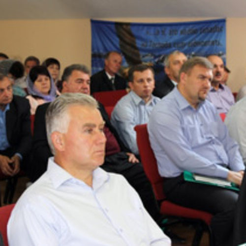 Учасники засідання Комітету ЦХВЄУ про гуманітарну допомогу сходу, служіння воєнних капеланів та проблеми християнської освіти