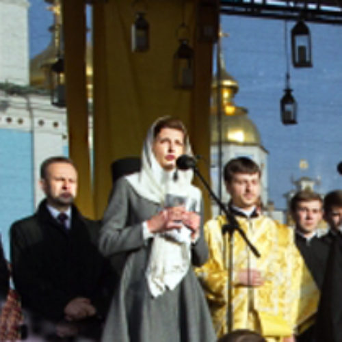 Президентська сім'я молилася за сиріт разом із віруючими різних віросповідань
