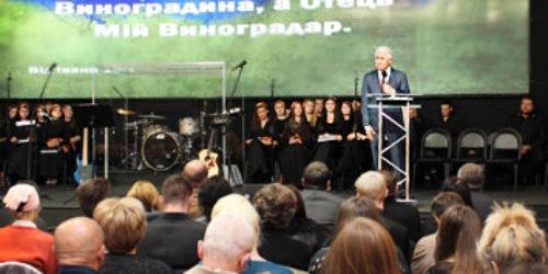 Михайло Паночко привітав церкву «Скинія» з розширенням Дому молитви