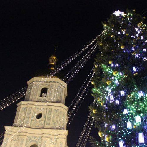 Тисячі киян і гостей столиці прийшли 24 грудня на Софіївську площу, щоб святкувати Різдво Христове (ВІДЕО)